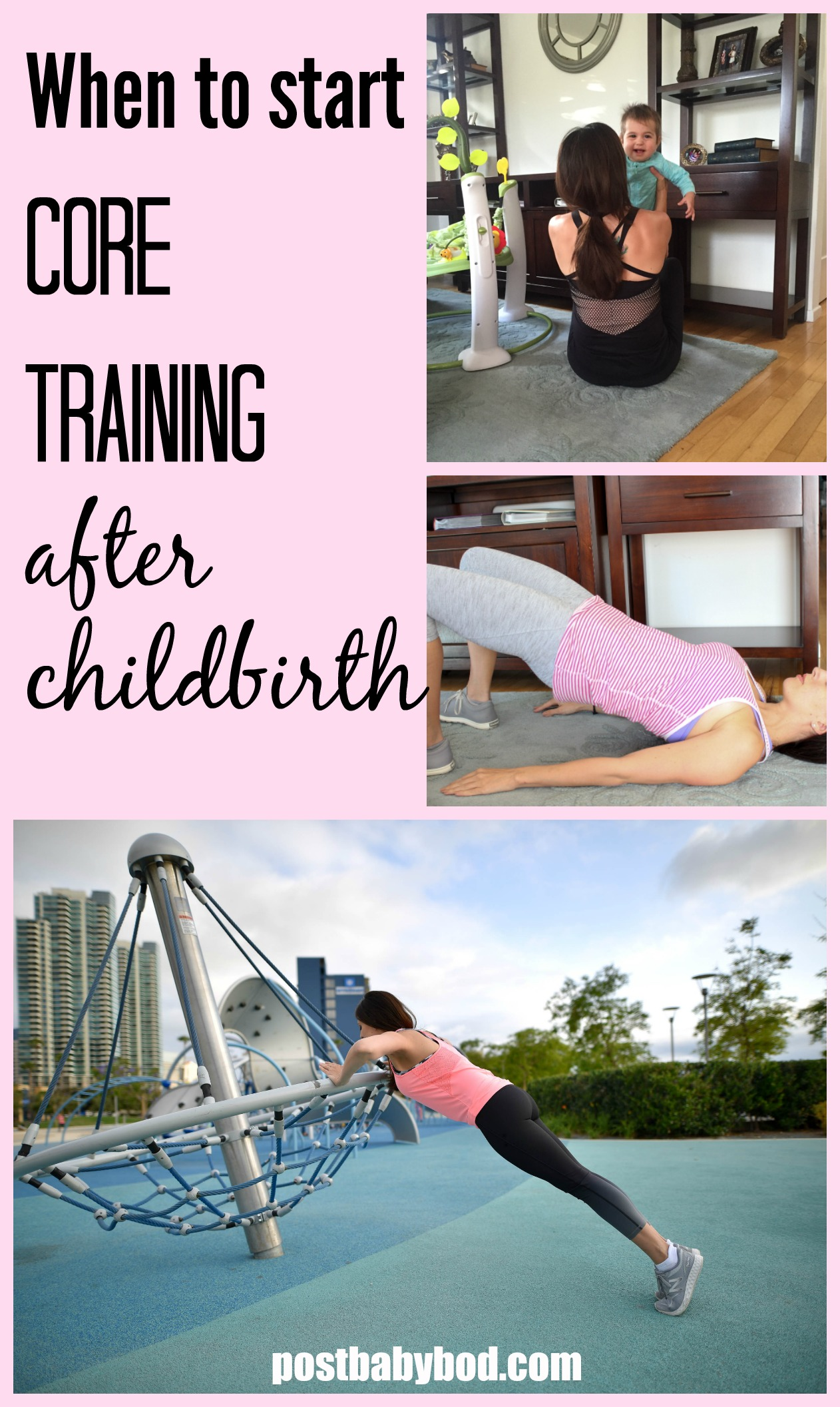 when to start core training after childbirth post baby bod