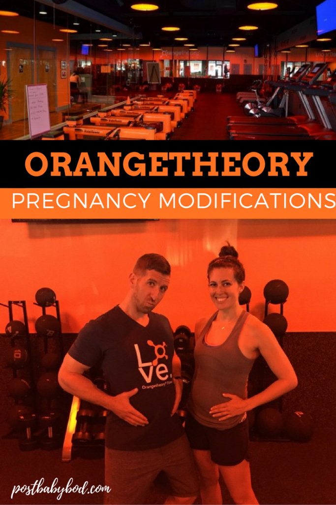 The great list of Orangetheory pregnancy modifications! Not sure how to modify your Orangetheory classes while you're pregnant? This post breaks down all of the prenatal modifications for exercises, cardio, strength and tools.